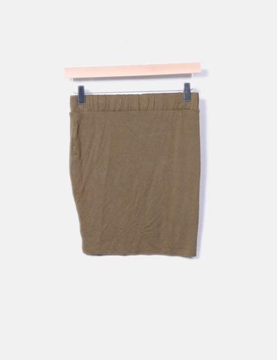 Mini falda ajustada verde