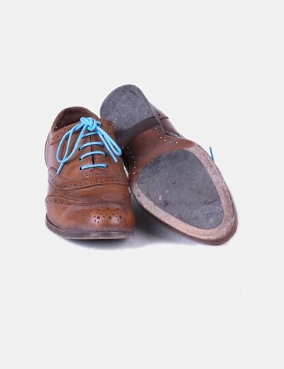 b93179e8bad3b Massimo Dutti Zapato oxford marrón con cordones azules (descuento 78%) -  Micolet