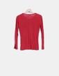 Camiseta fina roja manga larga Hakei