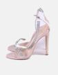 Sandalia de tacón nude con strass Simmi