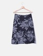 Falda negra estampado floral NoName