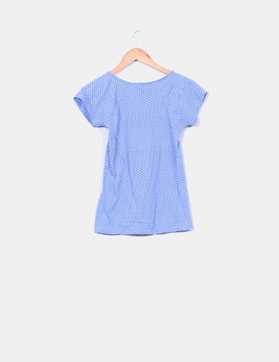 Camiseta azul print