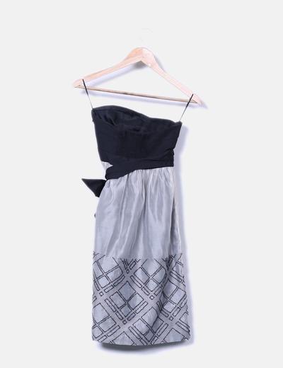79 Vestido descuento Palabra Escote Honor Micolet Zara De Fiesta 7qwaW60