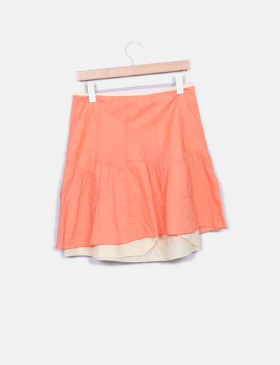 Falda capas naranja