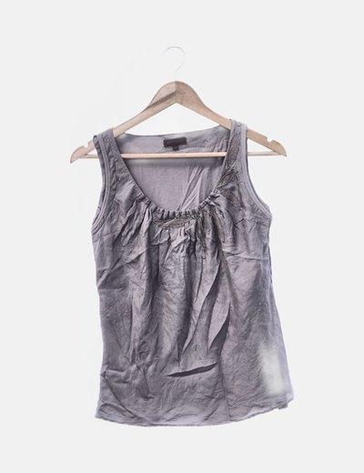 Camiseta gris seda