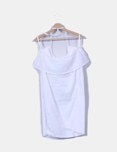 Vestido blanco con blonda