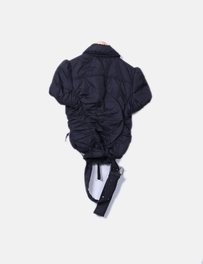 Chaqueta acolchada impermeable negra