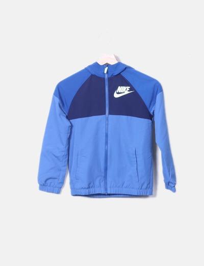 Sudadera azul con capucha Nike