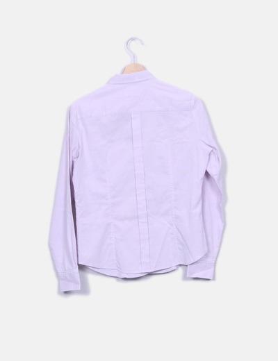 Camisa lila rayas combinadas
