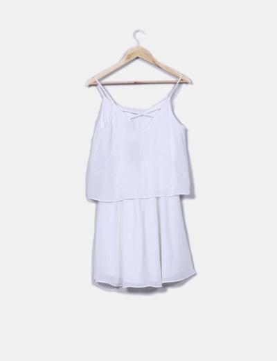 Vestido capa blanco