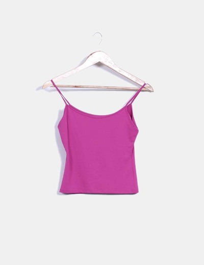 Top de tirantes morado Tex Woman