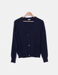 Chaqueta tricot azul marino Oysho