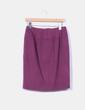 Falda midi color vino de lana Angel Schlesser