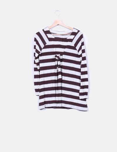 Jersey de rayas bicolor de manga larga New Saks