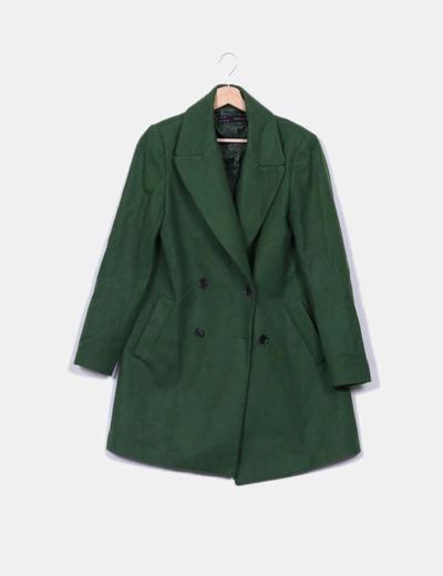 0fe0aec031d Zara Abrigo verde de lana (descuento 72%) - Micolet