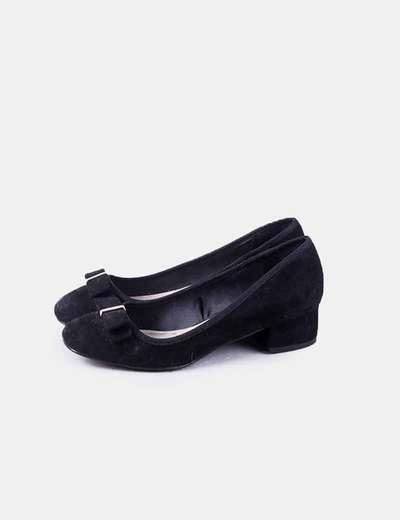 Zapato negro anteina Wide fit