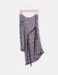 Vestido estampado con escote asimétrico   Suiteblanco