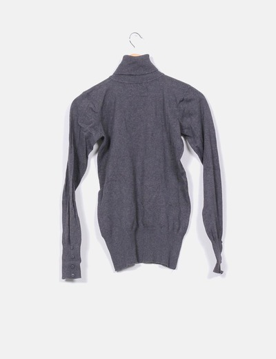 Jersey cuello gris oscuro