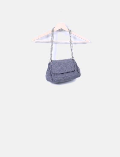 Bolso lana gris con cadenas Teria Yabar