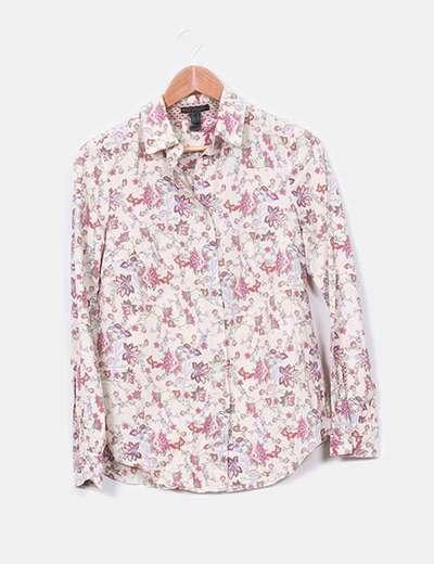 Camisa floreada estampada Mango