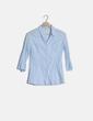 Camisa azul claro manga francesa Stradivarius