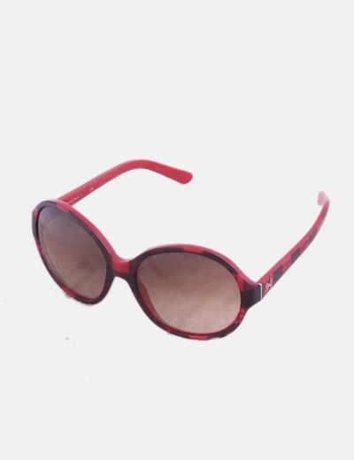 Gafas de sol redondas pasta roja