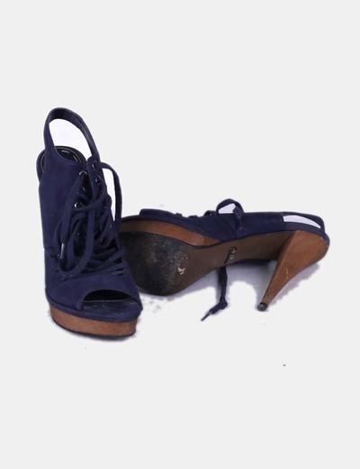 Sandalias cordones azul marino