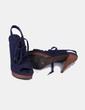 Sandalias cordones azul marino Zara