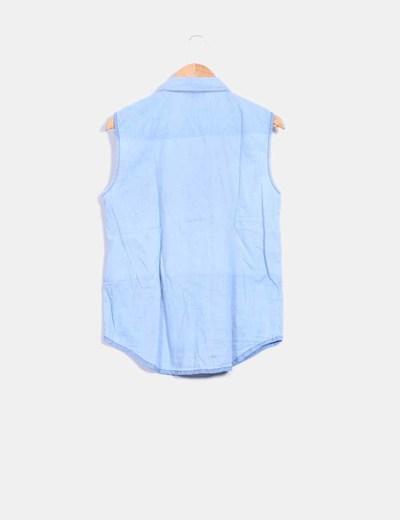 Camisa denim sin mangas