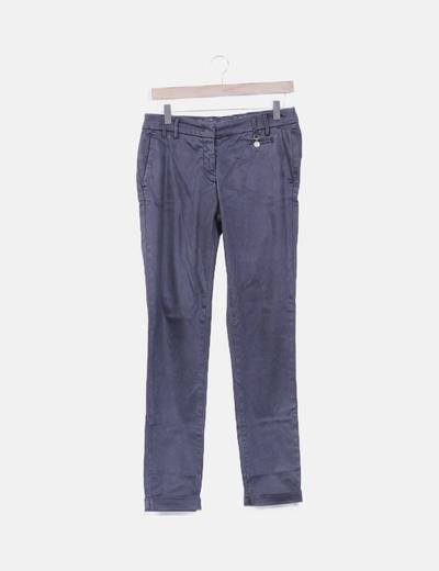 Pantalón chino gris marengo