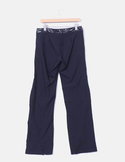 Pantalon negro detalle polipiel