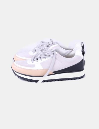 Detalles de Zapatillas deportivas mujer plataforma Zara