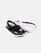 Sandales plate noires -forme Stradivarius