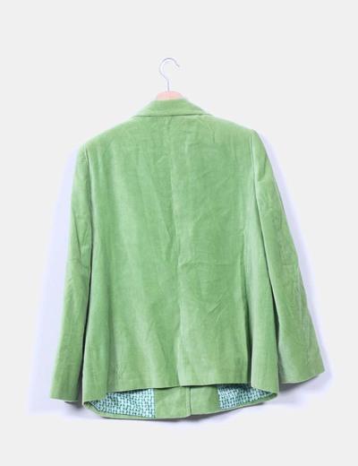 Chaqueta verde de terciopelo