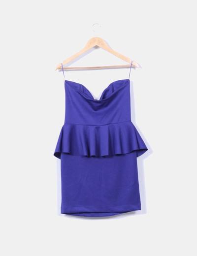 Vestido azul klein sin mangas