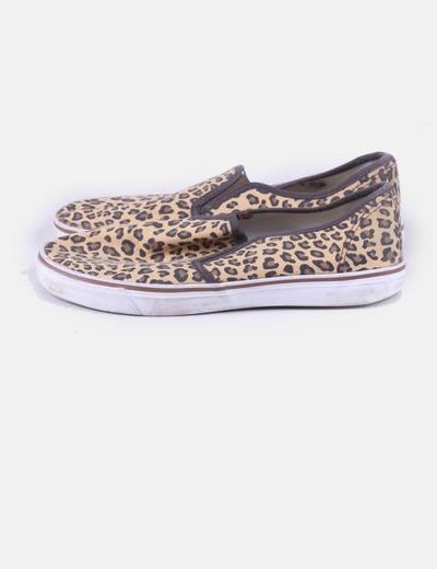 Sneaker con print animal