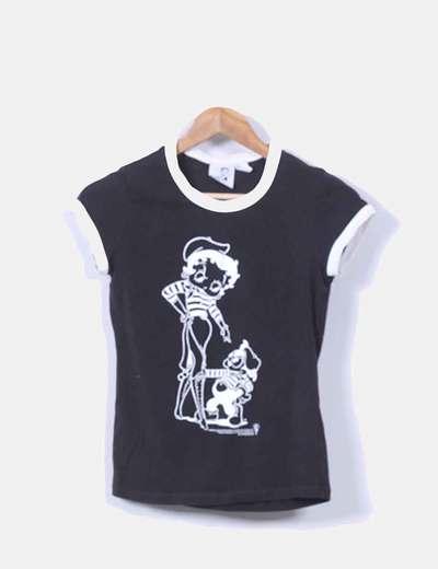 Camiseta negra Betty Boop Mango