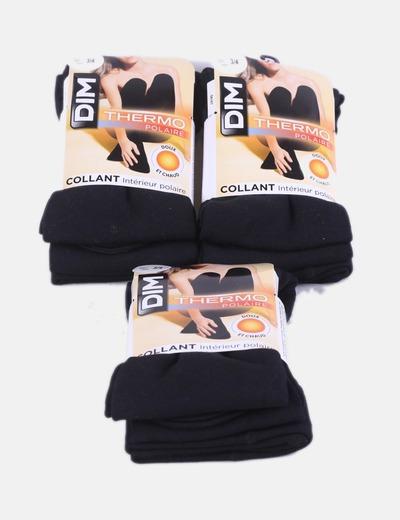 Conjunto de três pares de meias pretas Dim
