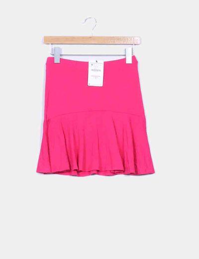 Falda de vuelo rosa  Stradivarius