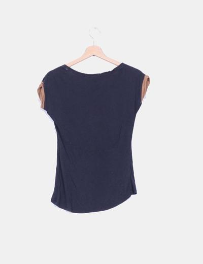 Camiseta azul marino print