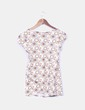 Camiseta blanca estampada de manga corta Suiteblanco
