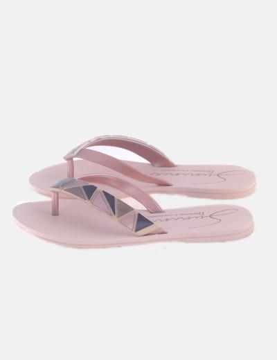 Sandalia rosa plana