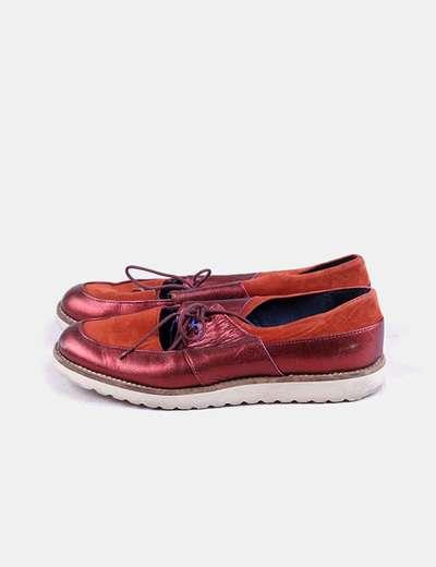 Zapato rojo metalizado