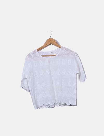 Blusa blanca bordada