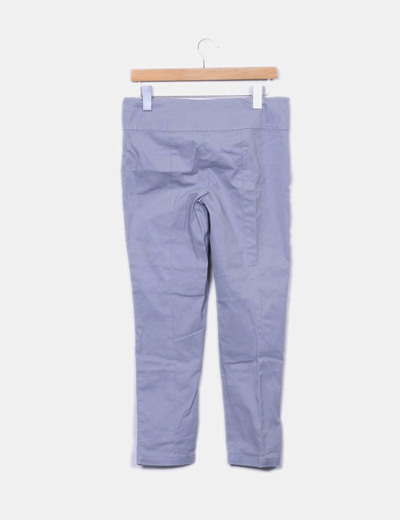 Pantalon recto gris