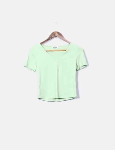 Camiseta de licra cuello pico Nayat
