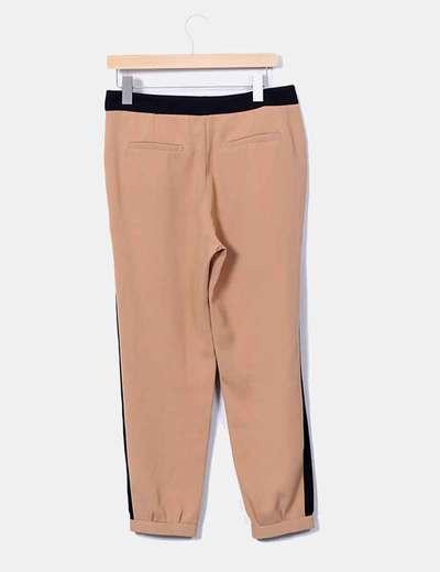 Pantalon camel combinado