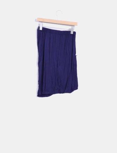 Mini falda asimetrica azul marino