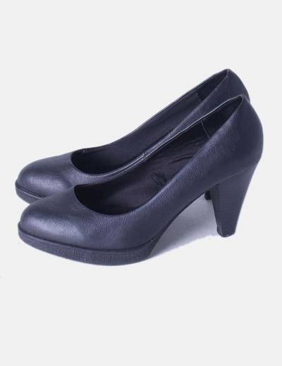 Chaussures noires bout rond de Tex Woman