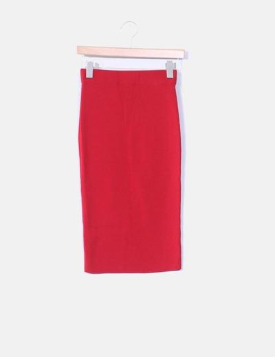 Mango falda tubo tricot rojo descuento 77 micolet for Tubo corrugado rojo precio